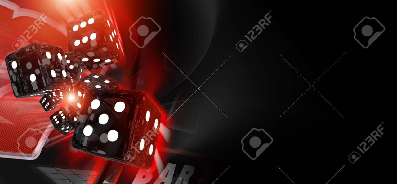 Red Craps Dices Casino Banner 3D Rendered Illustration With Copy.. Stock Photo, Picture And Royalty Free Image. Image 85263457.